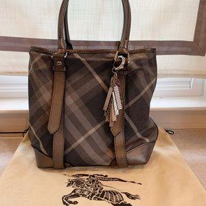 Burberry Nova Check Metallic Tote / Handbag